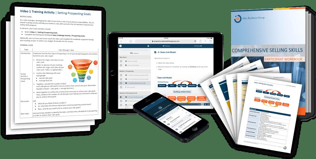 virtual sales training accelerator materials graphic